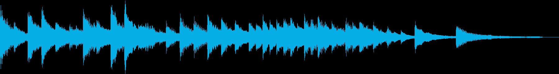 マリアをイメージした教会風ピアノジングルの再生済みの波形