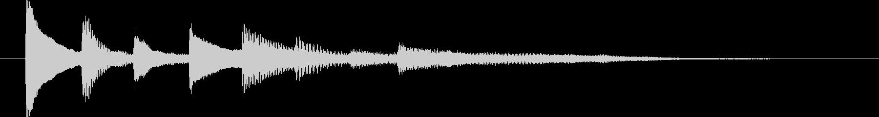 ピアノ転回音7の未再生の波形