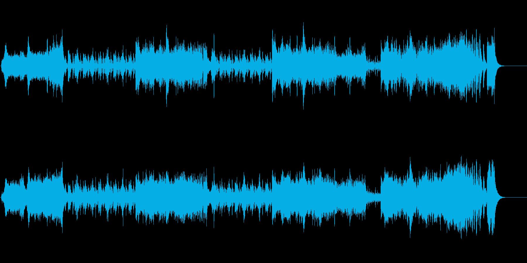 スケールの大きいオーケストラ・サウンドの再生済みの波形