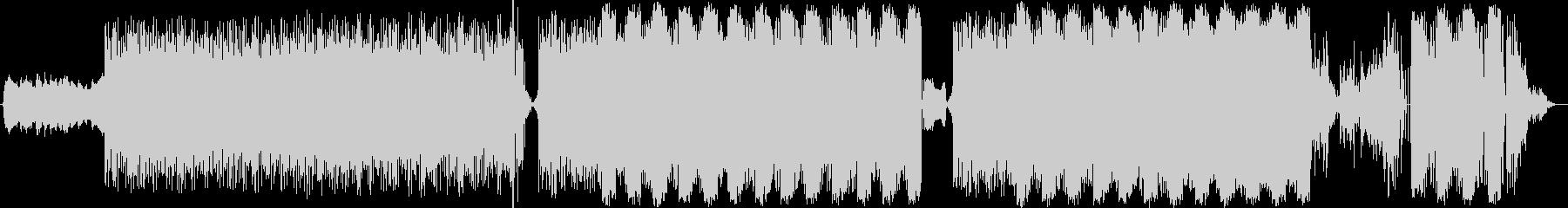 穏やかなワンリフのテクノポップの未再生の波形