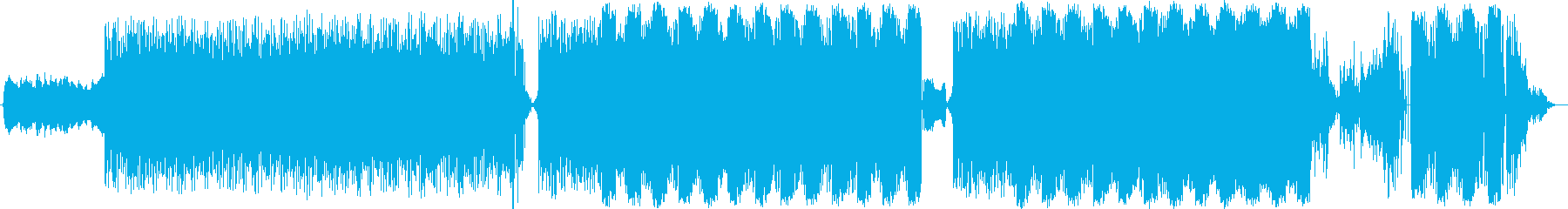 穏やかなワンリフのテクノポップの再生済みの波形