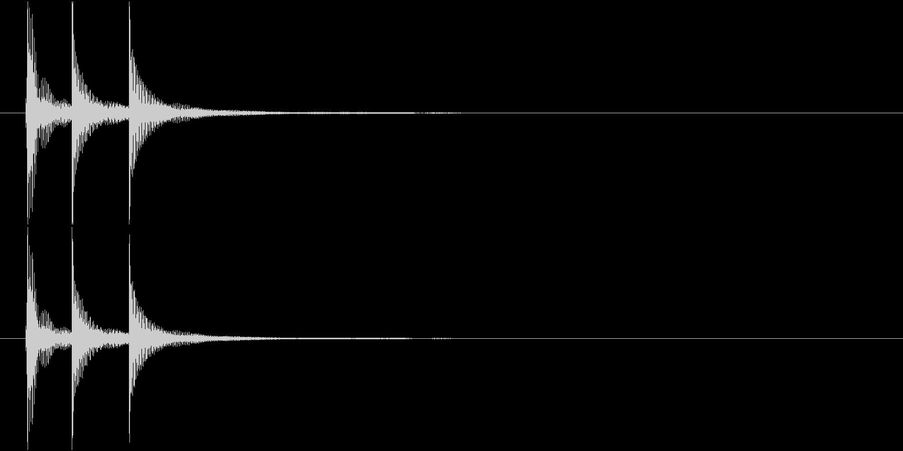 津軽三味線の生音(A-E-A音)の未再生の波形