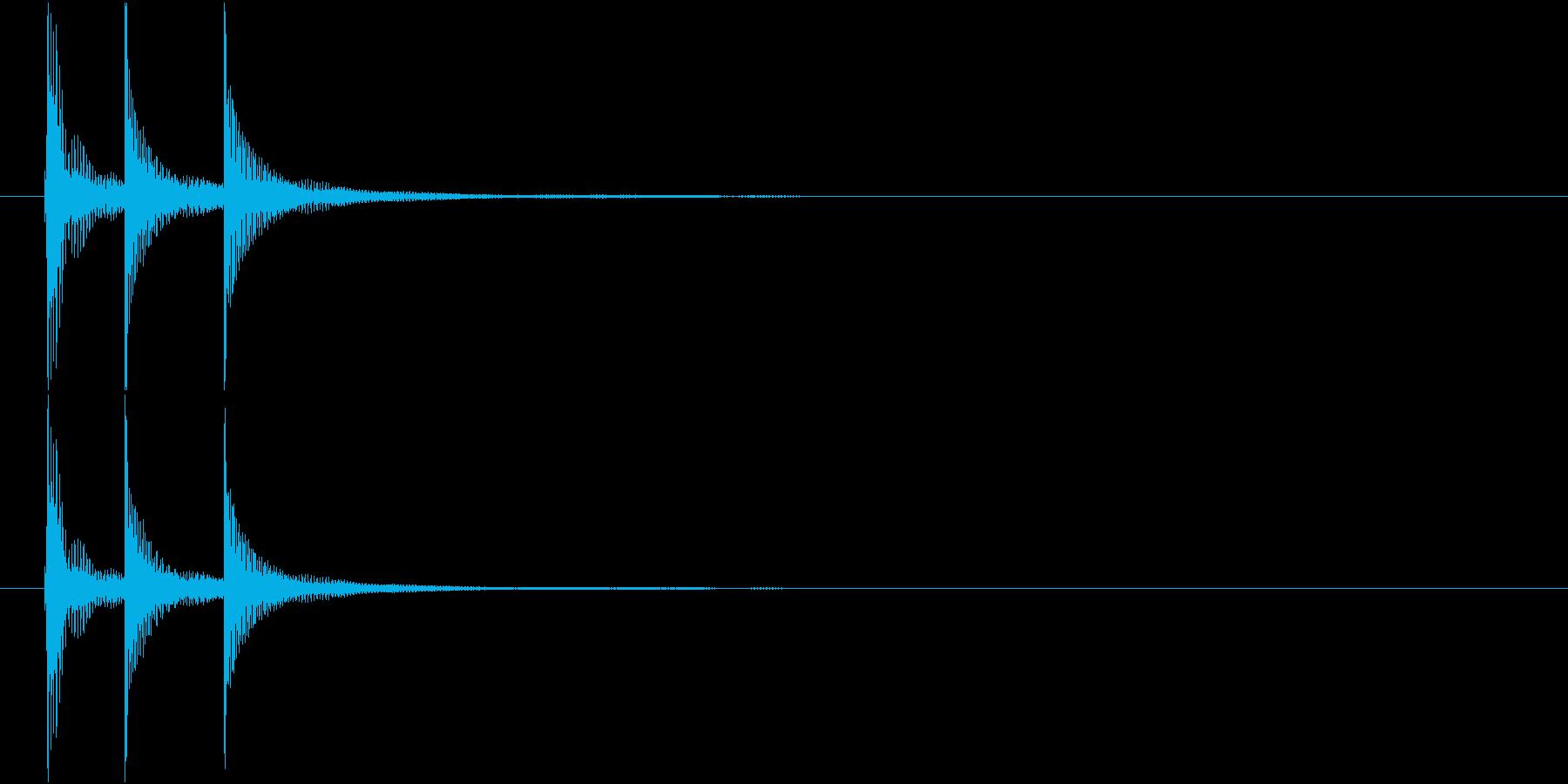 津軽三味線の生音(A-E-A音)の再生済みの波形