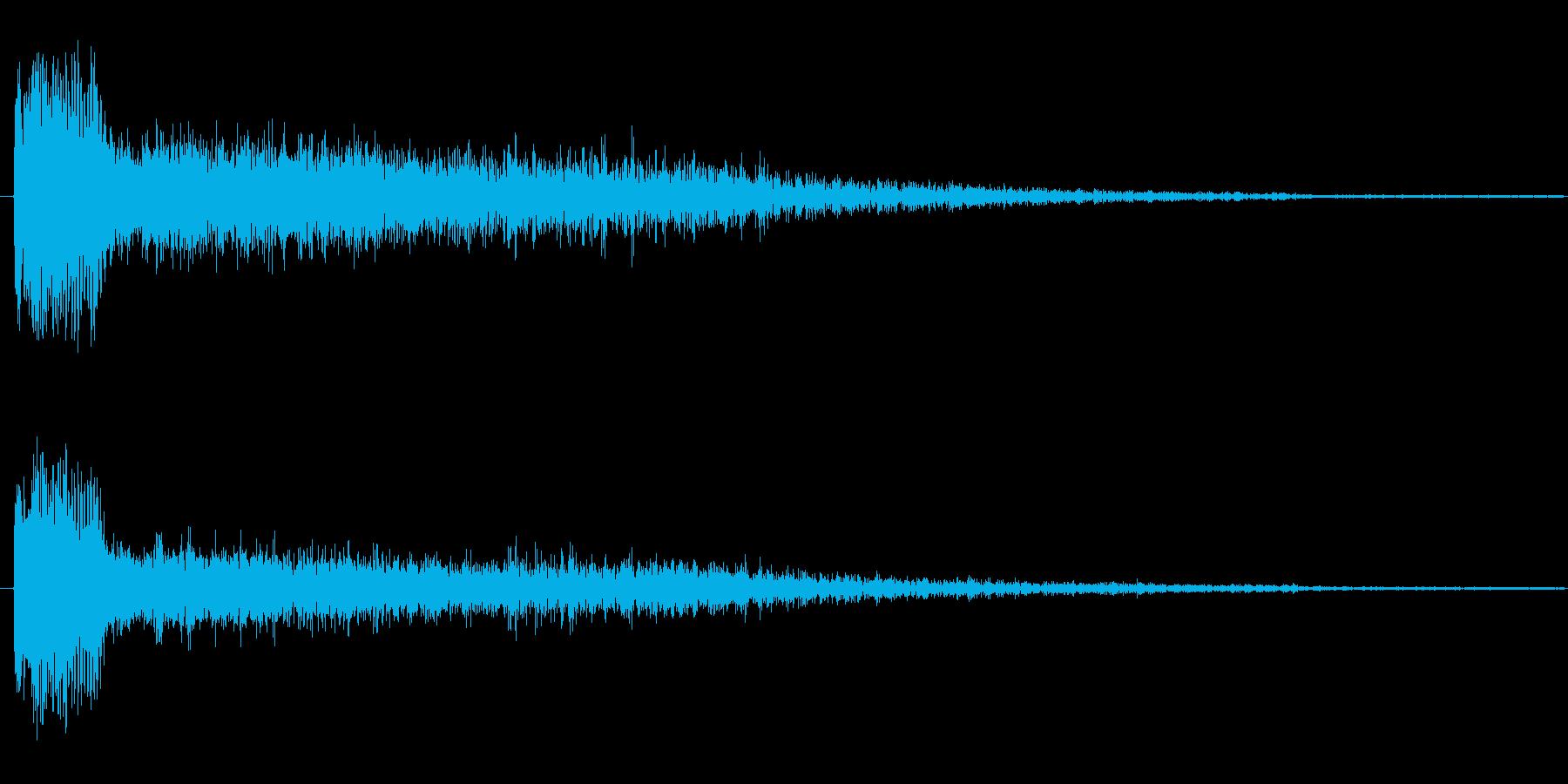 キック系 効果音の再生済みの波形
