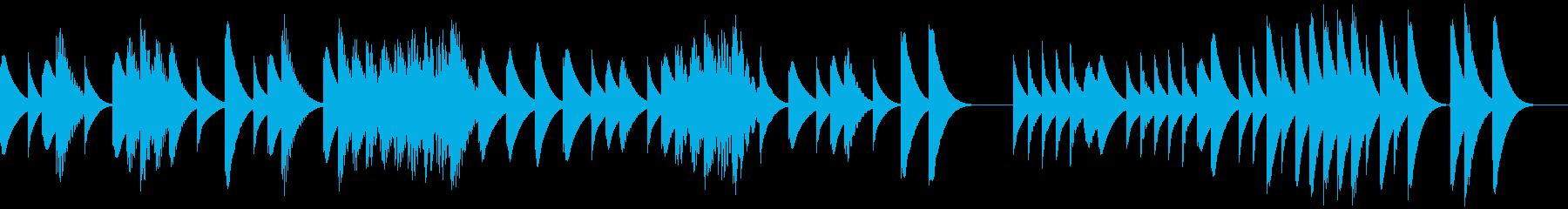 木琴と鉄琴がお話をしているような曲の再生済みの波形