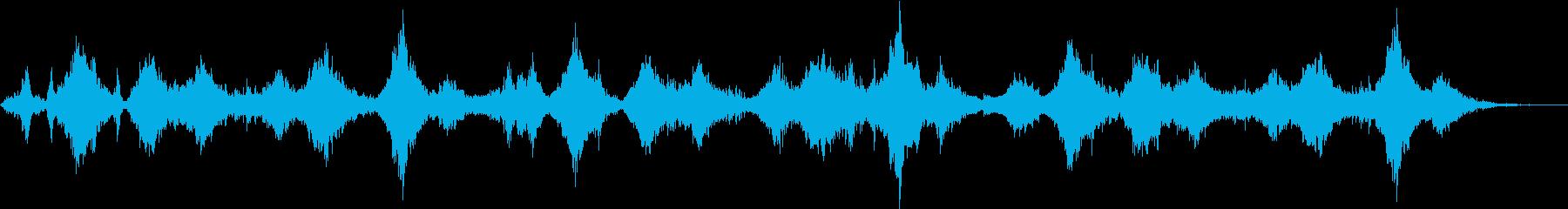 疑似海中遊泳を体験させる幻想的サウンドの再生済みの波形