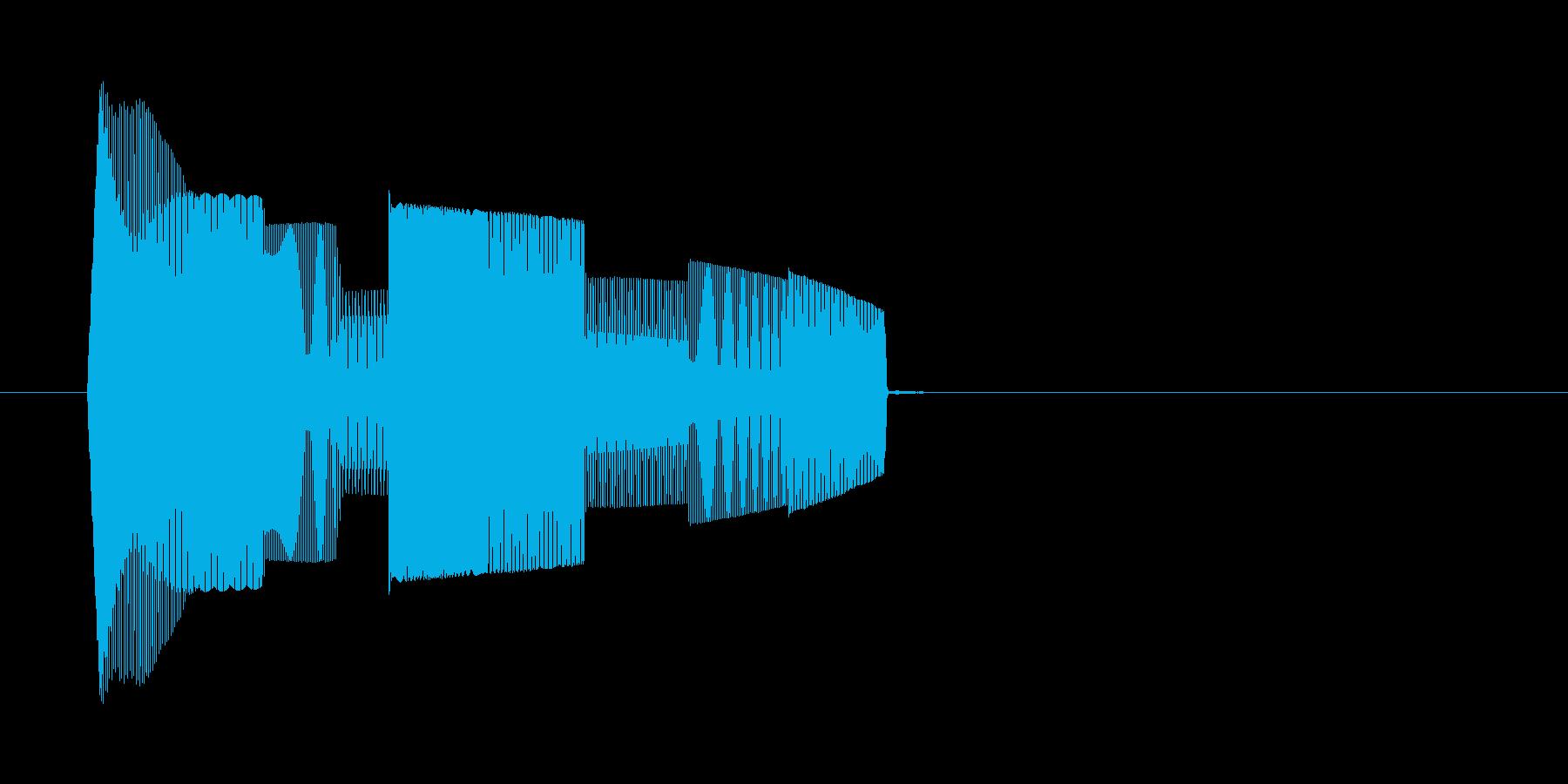 コンピューターのような効果音_その1の再生済みの波形