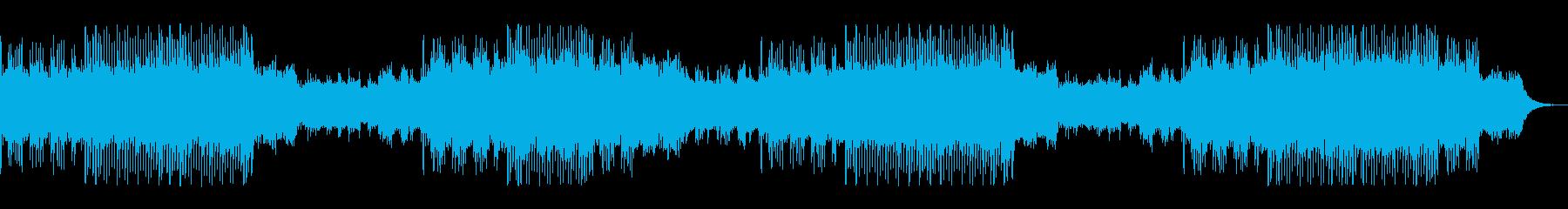 疾走感あるビートテクノボップの再生済みの波形
