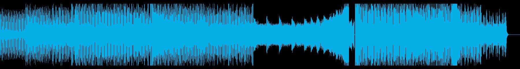かっこよくてノれる四つ打ち曲の再生済みの波形