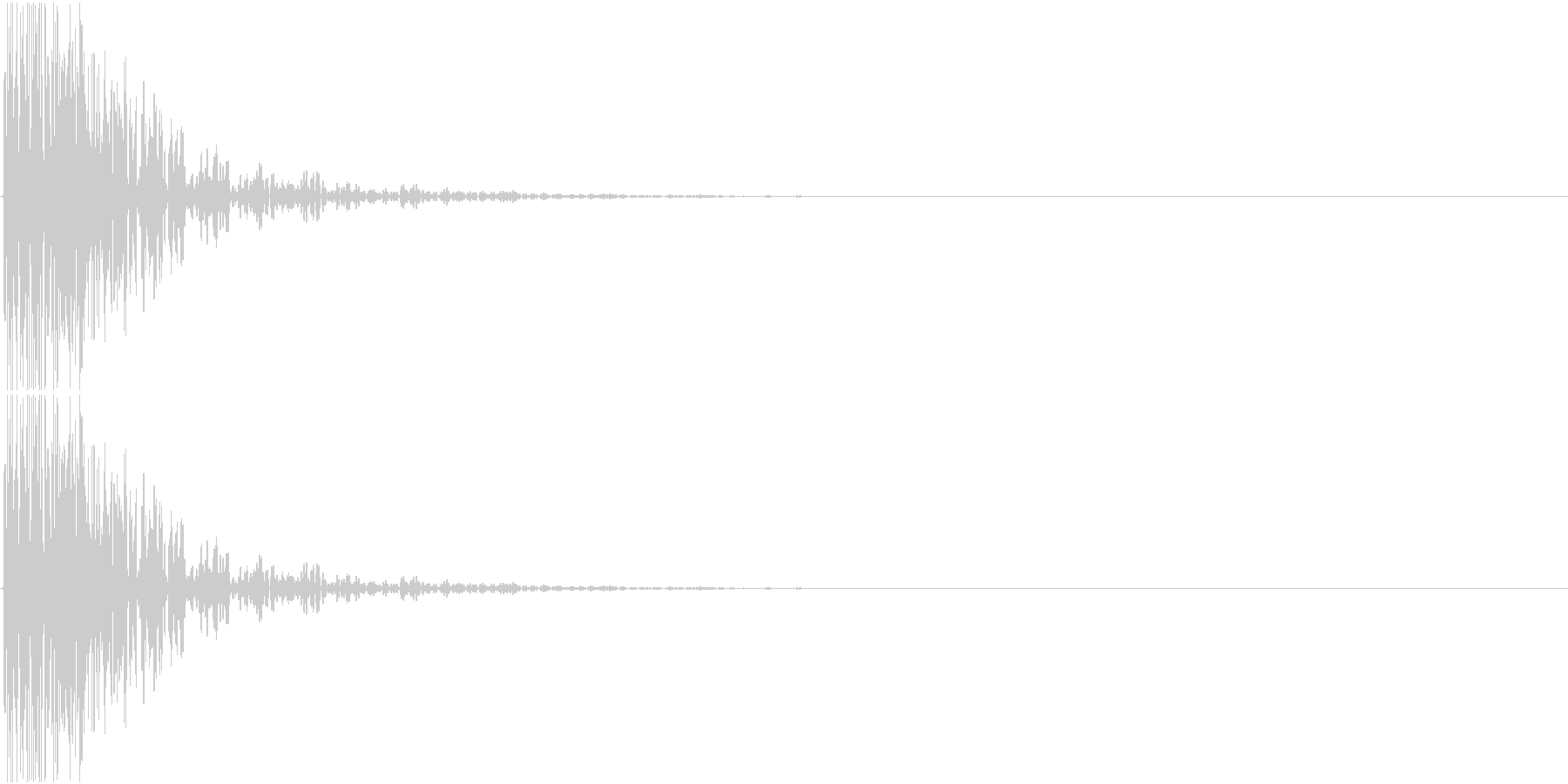 [[ドドドン!]] 和太鼓の音3発 速めの未再生の波形