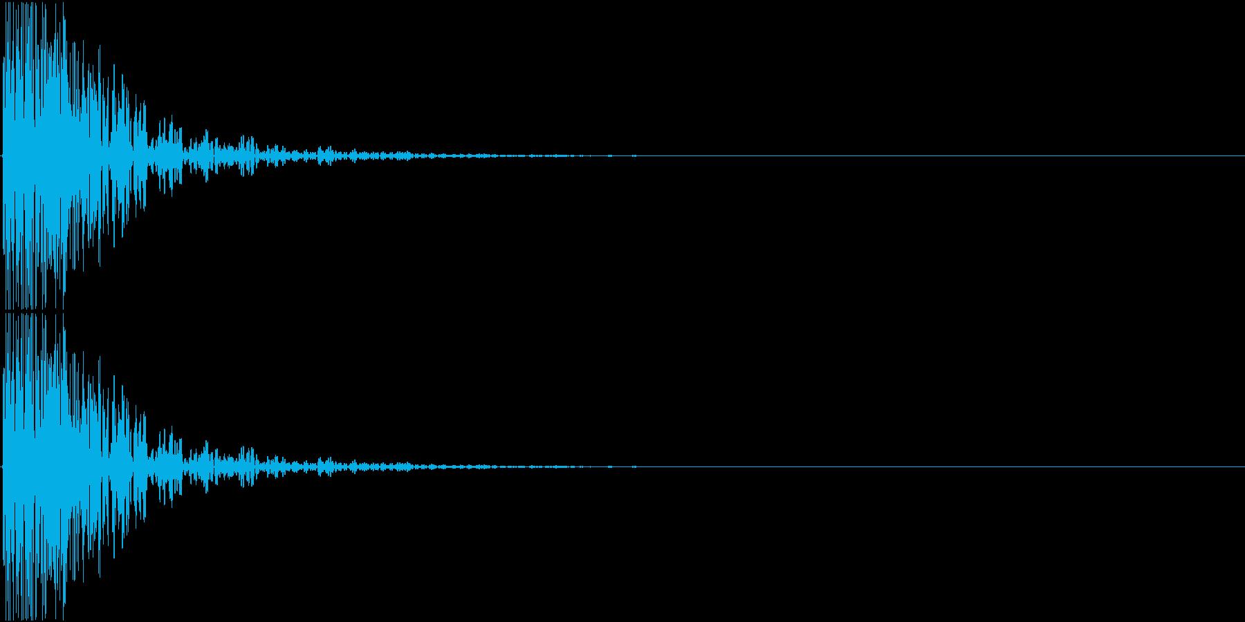 [[ドドドン!]] 和太鼓の音3発 速めの再生済みの波形