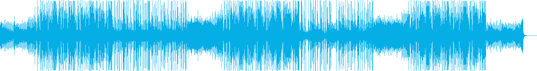 シリアスに迫ってくる曲の再生済みの波形