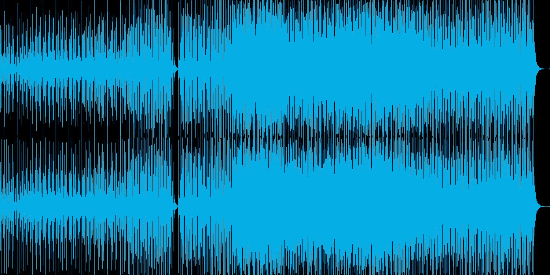 疾走感のあるビートとピアノの幻想的な曲の再生済みの波形
