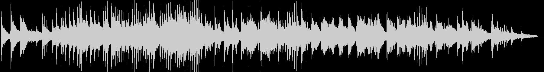 壮大なダークファンタジーのピアノソロの未再生の波形