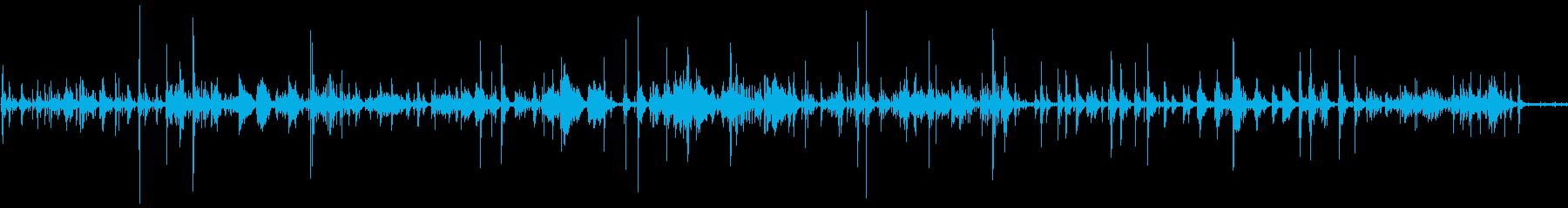 キラキラしたピアノの宇宙的なBGMの再生済みの波形