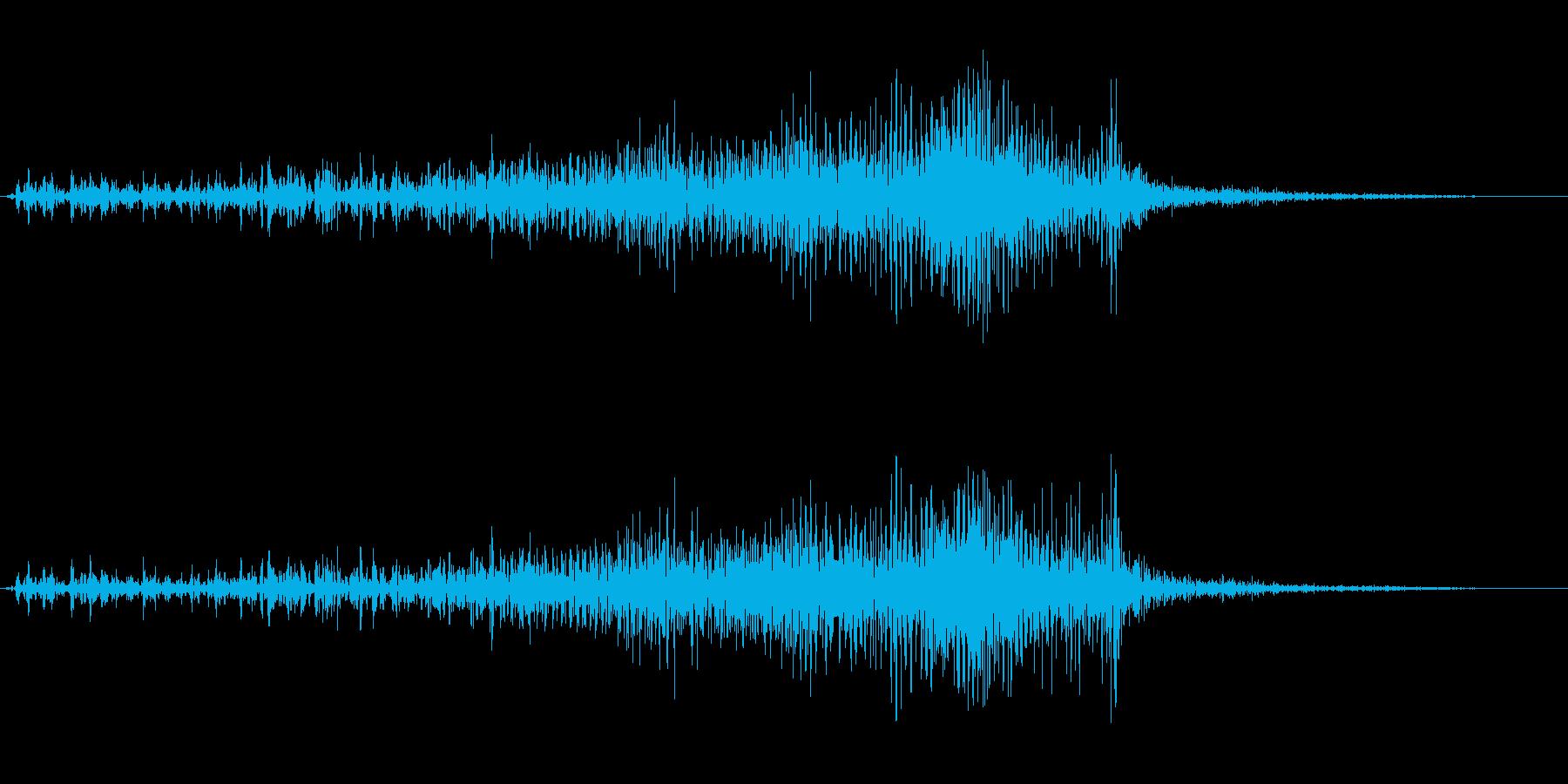 チャックを閉める音2の再生済みの波形