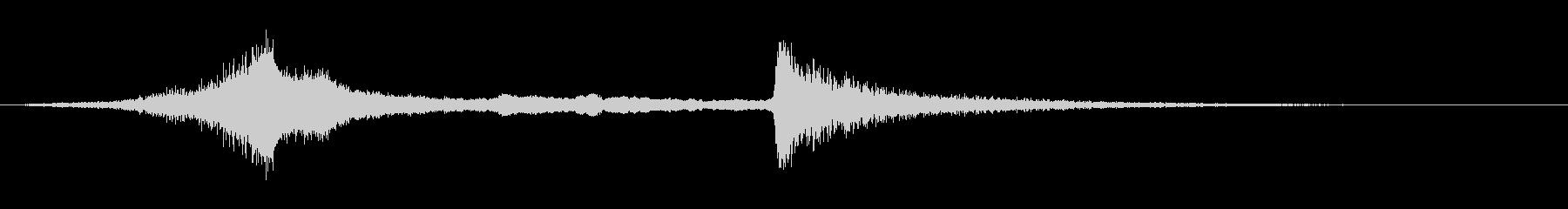 ザップの未再生の波形