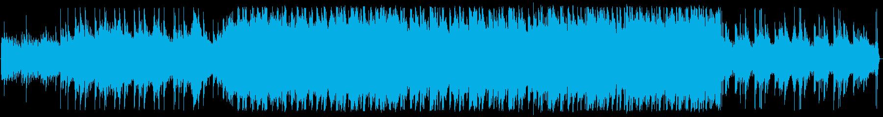 何かが起こりそうな緊張感のあるホラーの再生済みの波形