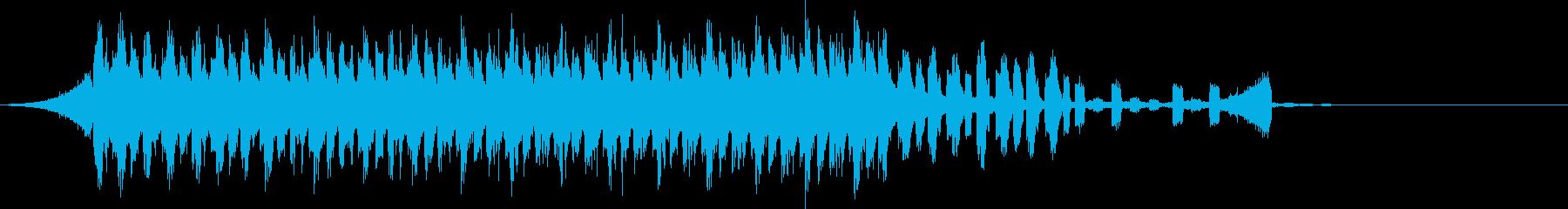 CM明るく爽快軽快ピアノポップジングルaの再生済みの波形