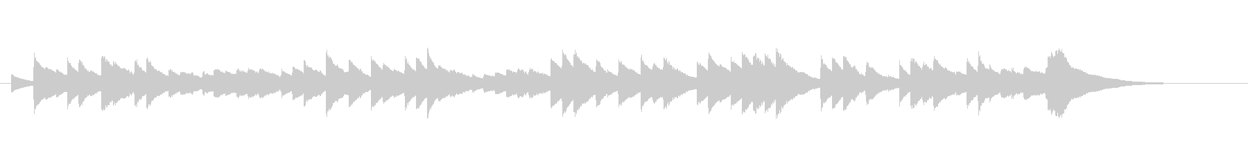寂しい雰囲気のオルゴールの未再生の波形
