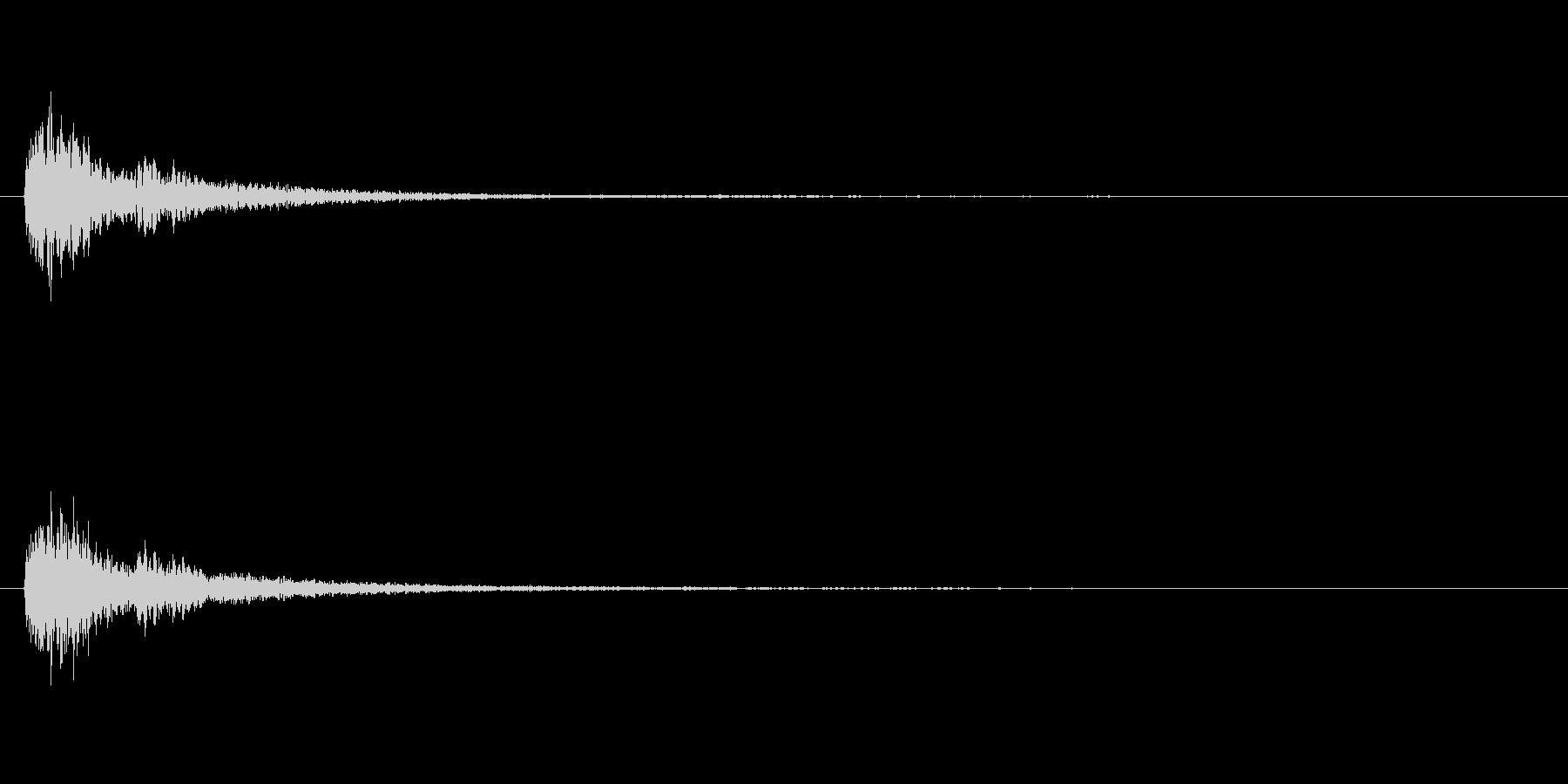 ダークな効果音「キュピッ」の未再生の波形