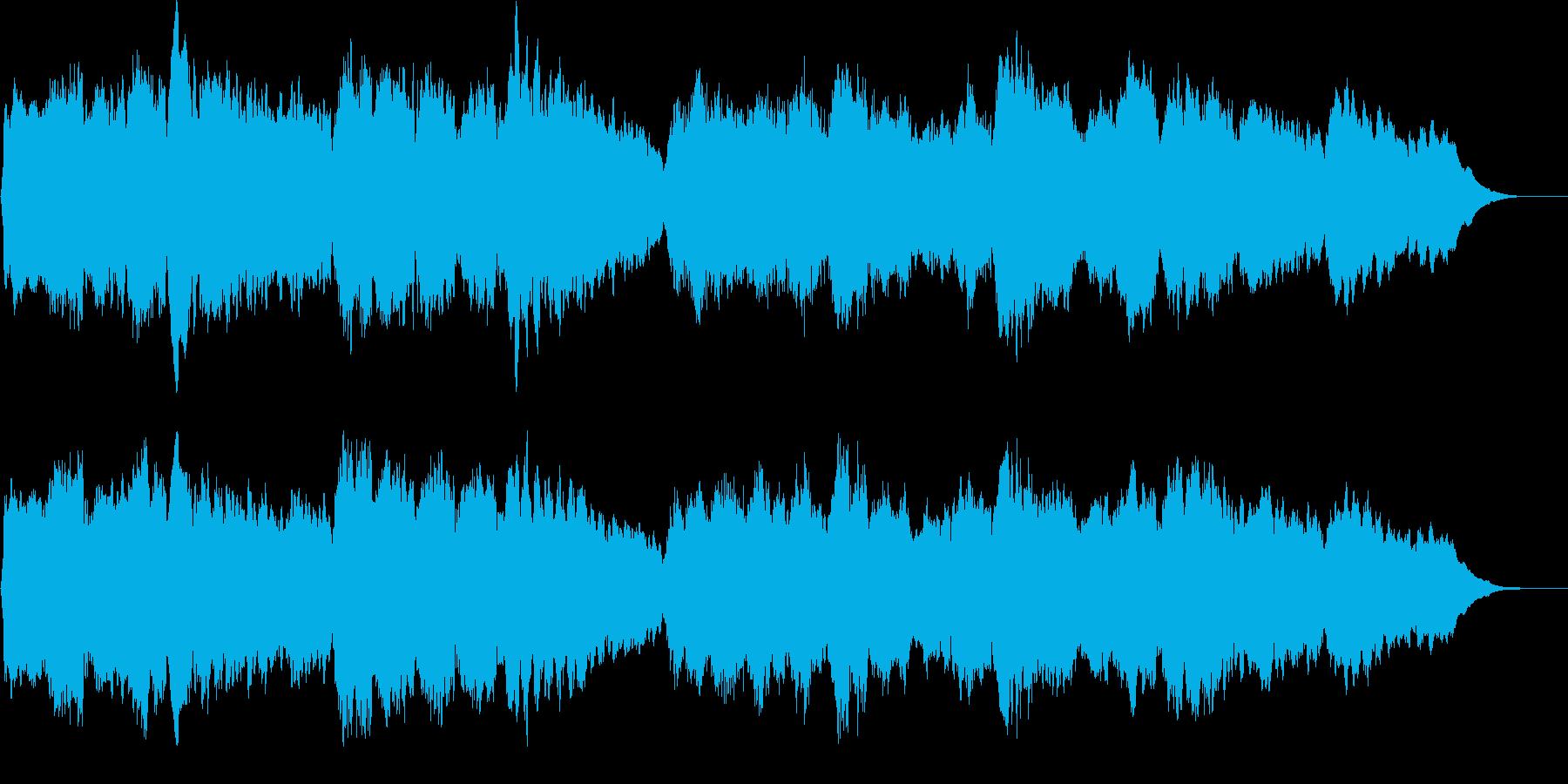 ストリングスによるしっとりしたジングルの再生済みの波形