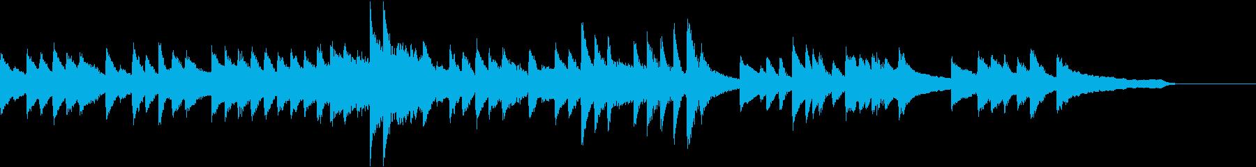 祭囃子を入れた夏のバラードピアノジングルの再生済みの波形