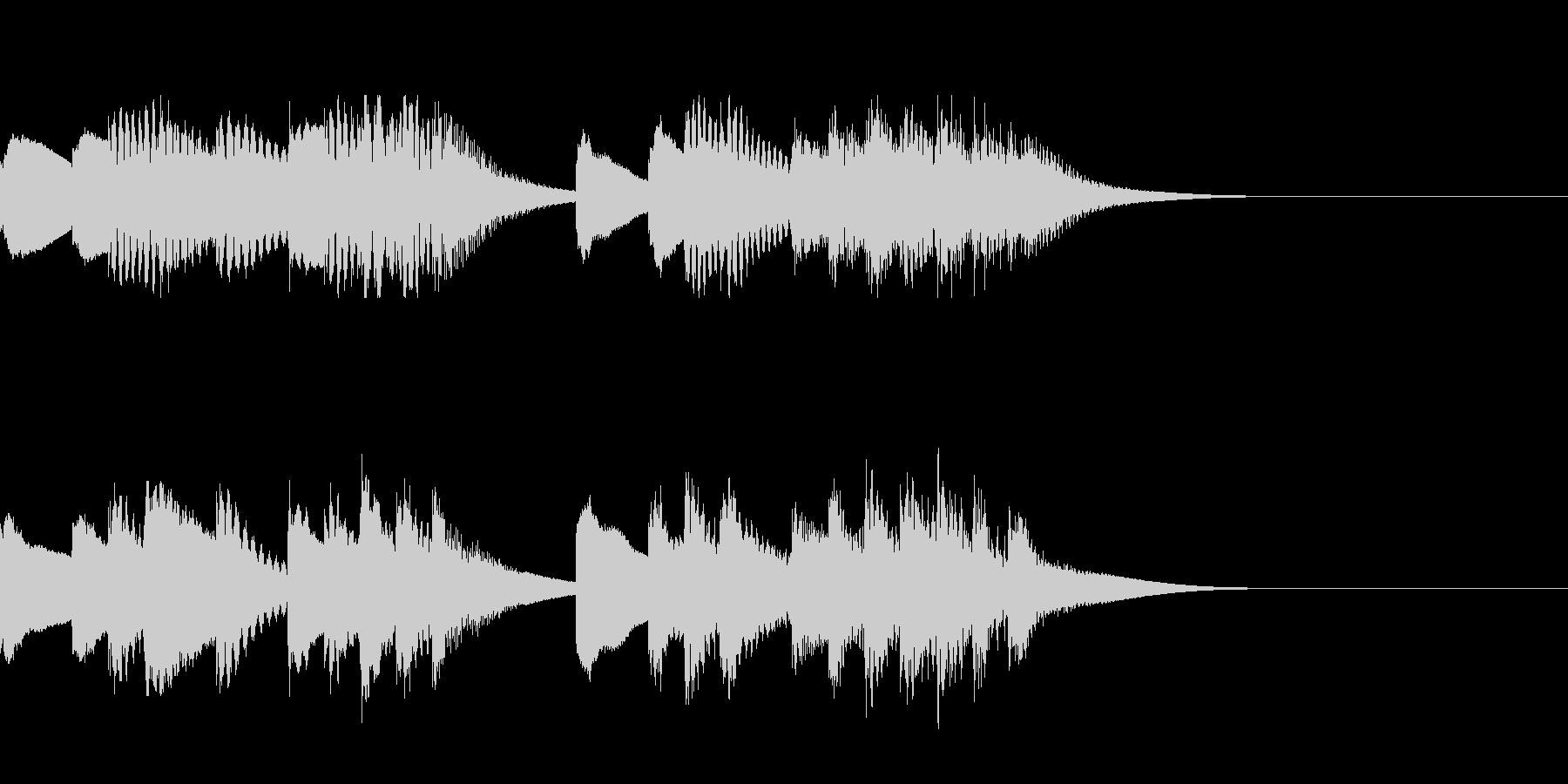 マリンバとティンクルベルのジングルの未再生の波形