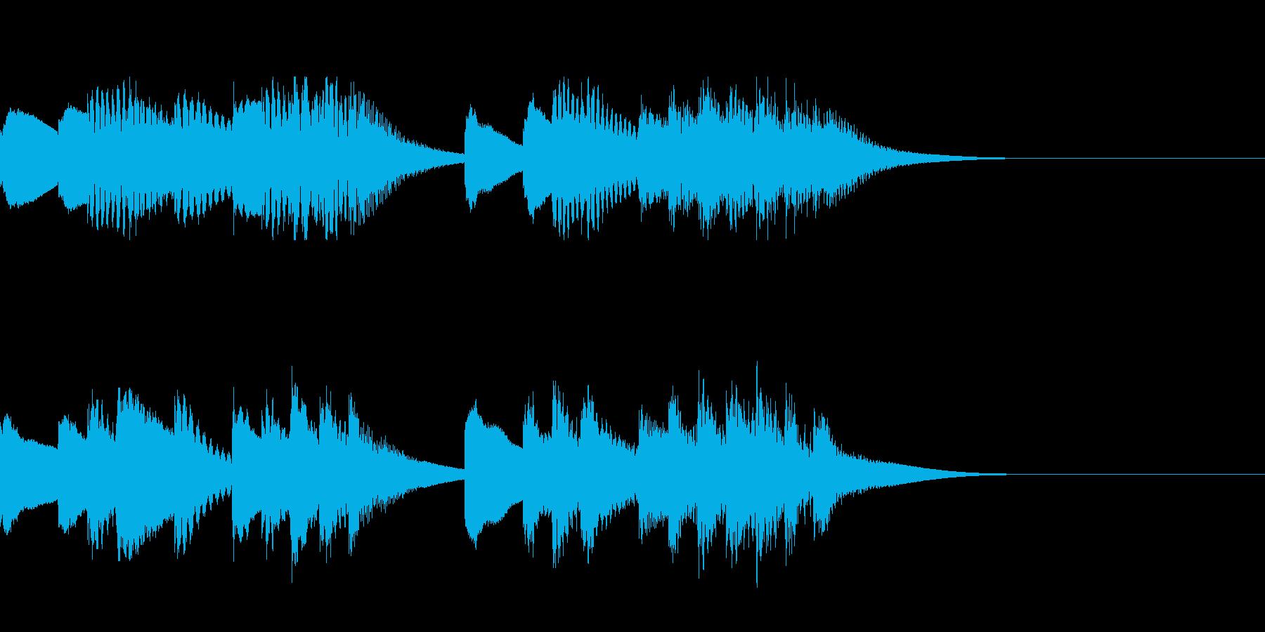 マリンバとティンクルベルのジングルの再生済みの波形