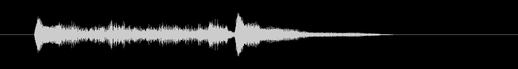 ギターの軽快なメロディーの未再生の波形