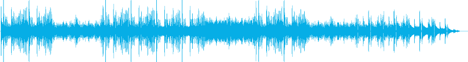 ヒーリングHiphopの再生済みの波形