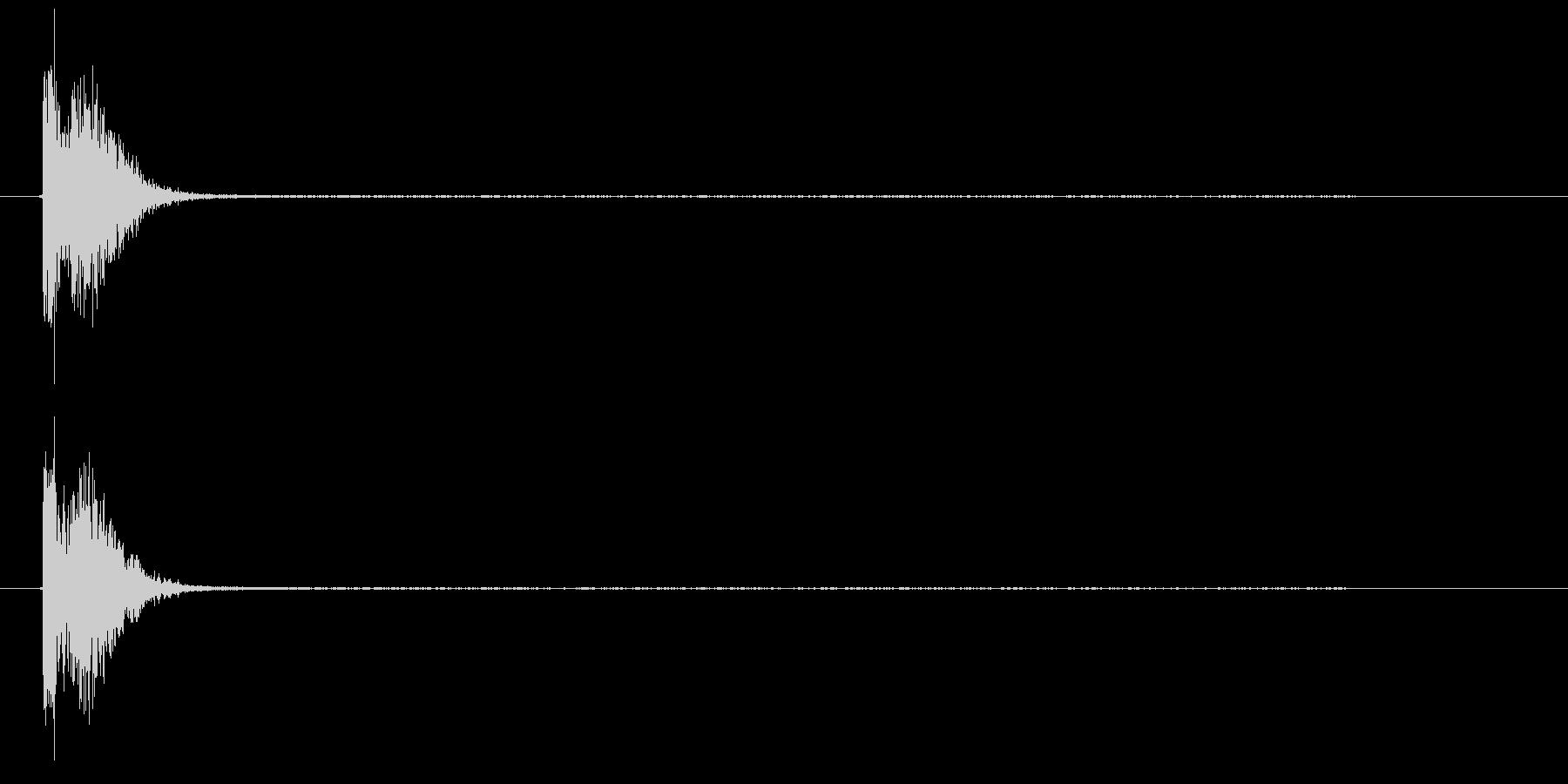 コンコン_咳5の未再生の波形