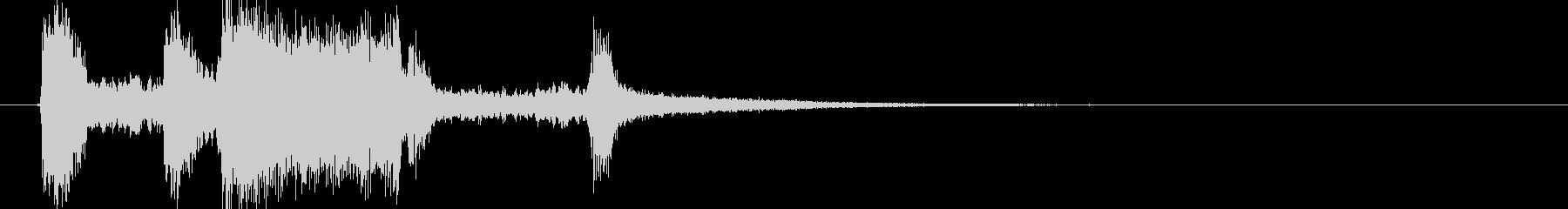 テッテレー(レベルがアップする音)の未再生の波形