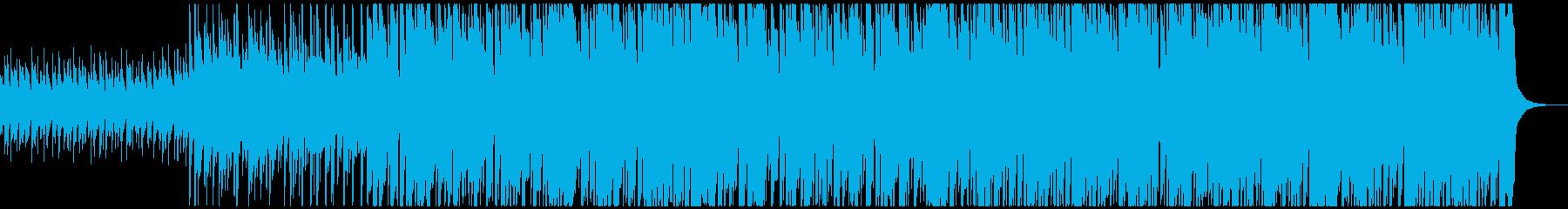 軽快なリズムで刻む晴れ晴れとしたポップスの再生済みの波形