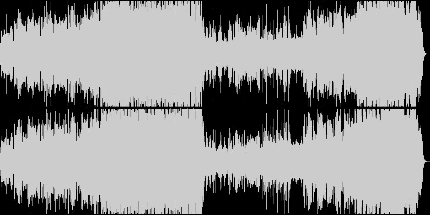 和風バトルのような曲です。の未再生の波形