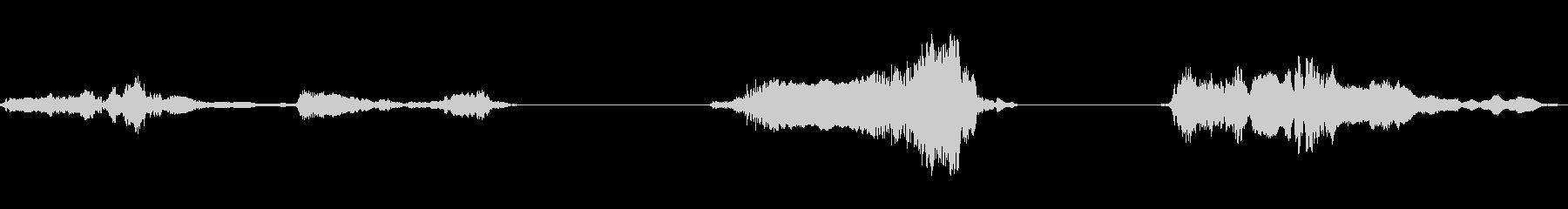 ショートスクレープ;中周波;ヒンジ...の未再生の波形
