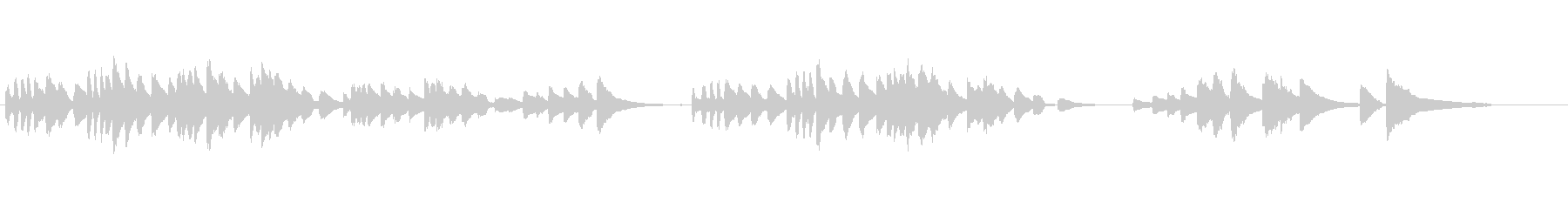 バルトーク「子供のために」22番の未再生の波形
