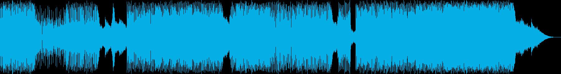 ギターベースのバックグラウンドミュ...の再生済みの波形