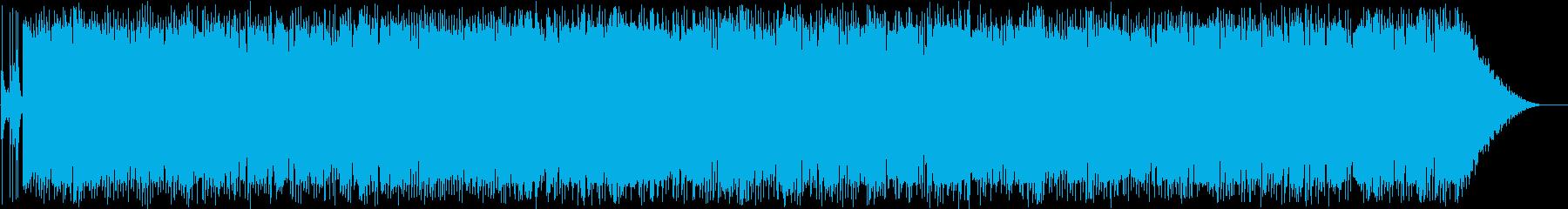 ちょっとハードな雰囲気のロックですの再生済みの波形