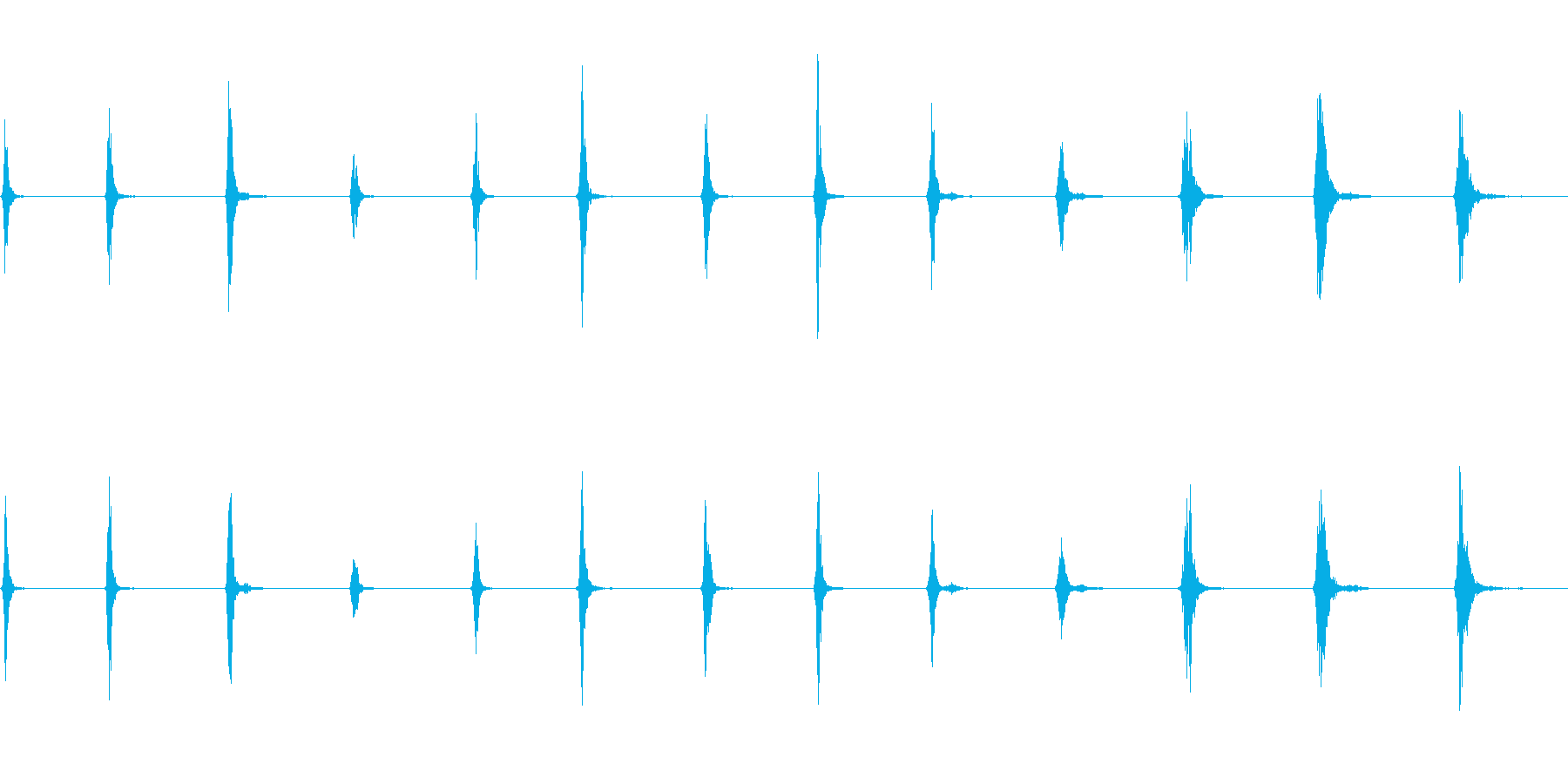 SWISH、WHIP、FX、13バ...の再生済みの波形