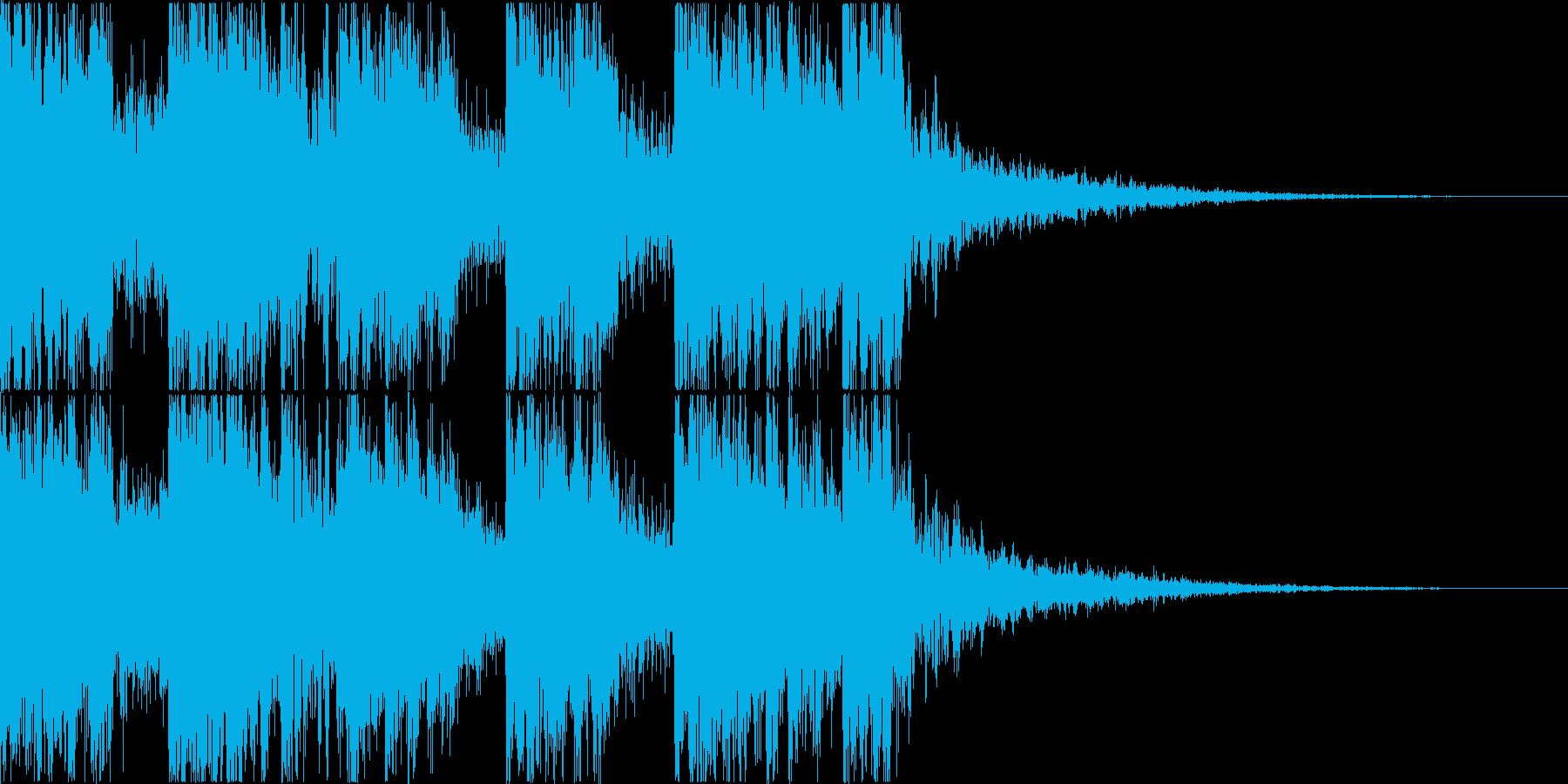 三味線・箏・尺八・和太鼓・ジングル05の再生済みの波形