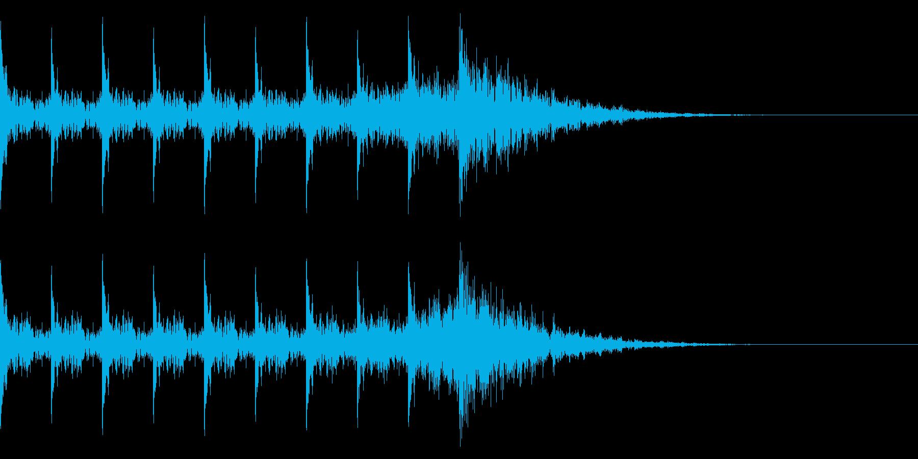 タイム10秒 ピ、ピ、ピ、ボン 爆弾の再生済みの波形