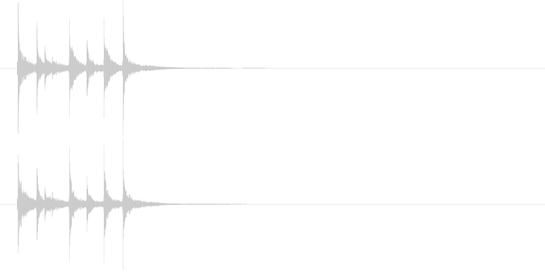 和の素材_三味線の短いフレーズ1の未再生の波形