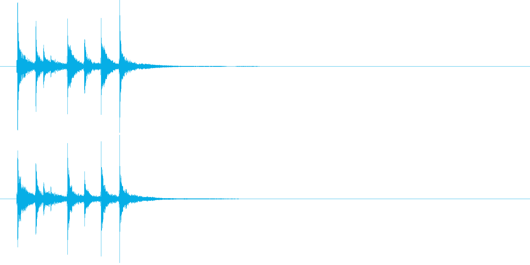 和の素材_三味線の短いフレーズ1の再生済みの波形