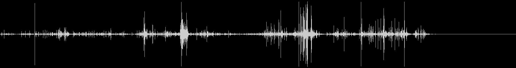 キリキリとした摩擦音 8の未再生の波形