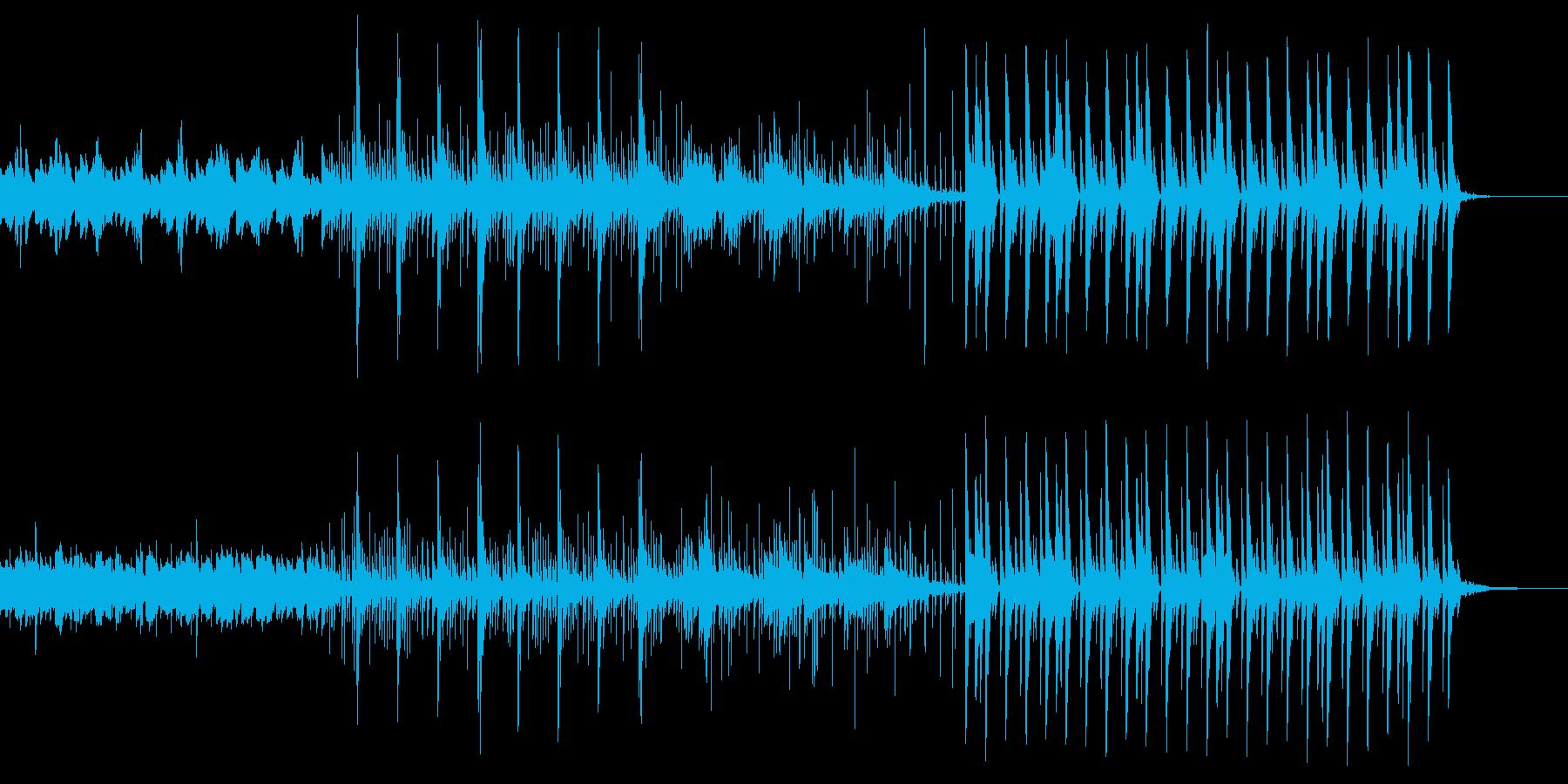 かわいらしくも切ないエレクトロニカ曲の再生済みの波形