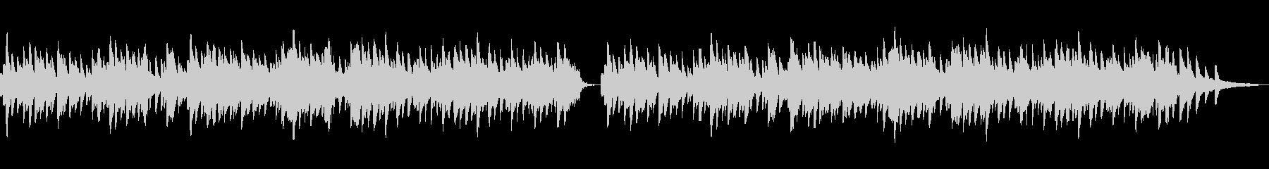ほっこりした雰囲気のBGMの未再生の波形