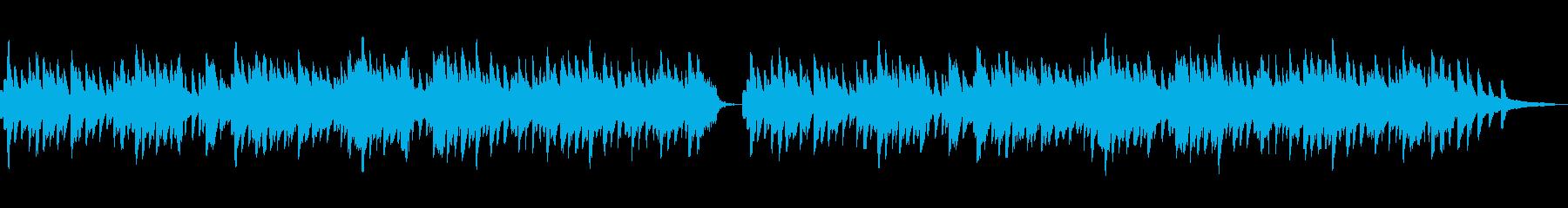 ほっこりした雰囲気のBGMの再生済みの波形