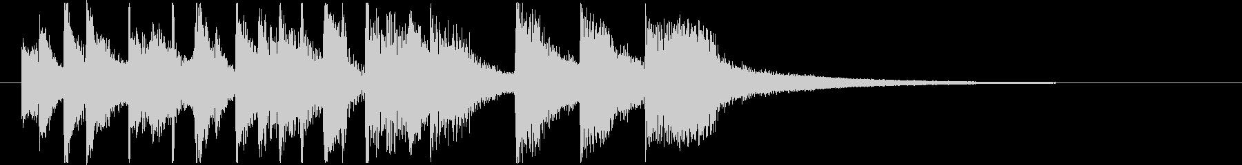 ノリノリのサルサ調サウンドロゴの未再生の波形