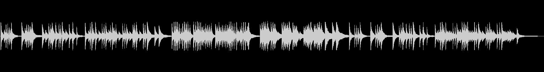 シンプルで切ないヒーリング系ピアノソロの未再生の波形